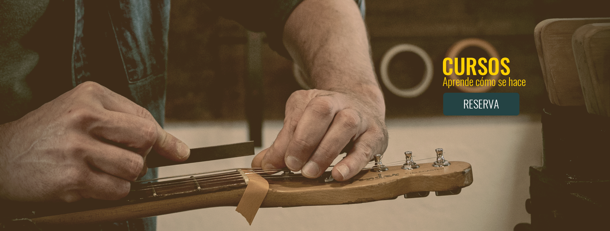 Curso Mantenimiento Guitarras